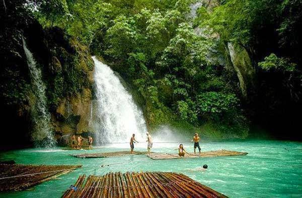 #8. The Kawasan Falls in Badian, Cebu, Philippines. - 19 Secret Travel Destinations You Never Knew Existed… Almost Nobody Knows About #17.