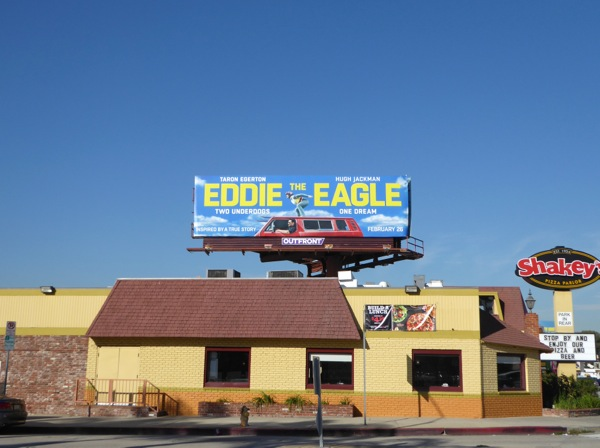 Eddie the Eagle billboard