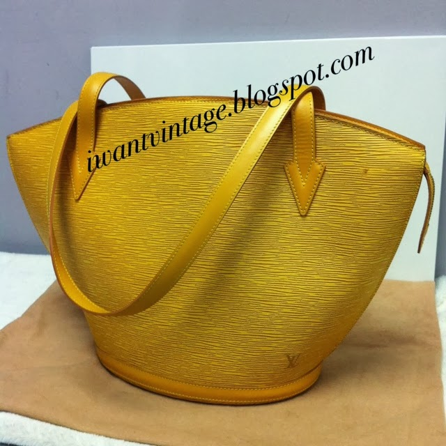 00c06f828e70 Louis Vuitton Yellow Epi leather Saint Jacques GM