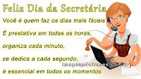 Mensagens para Secretária - Dia da Secretária - 30 de Setembro