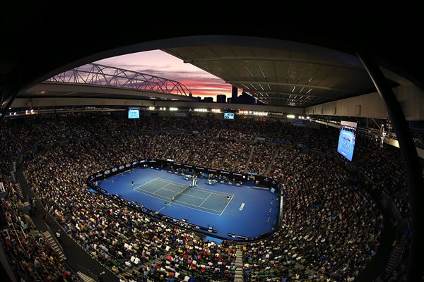 centre court at Melbourne Park for the Australian Open 2017