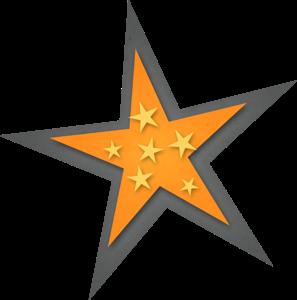 Clipart de Estrellas con Estrellas.