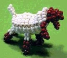 Животные из бисера объемные овечка