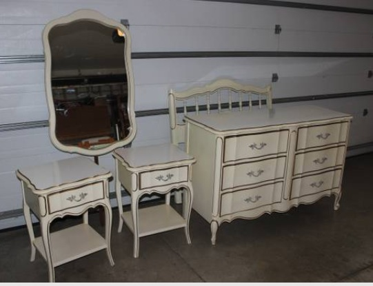 vintage french provincial bedroom furniture for sale