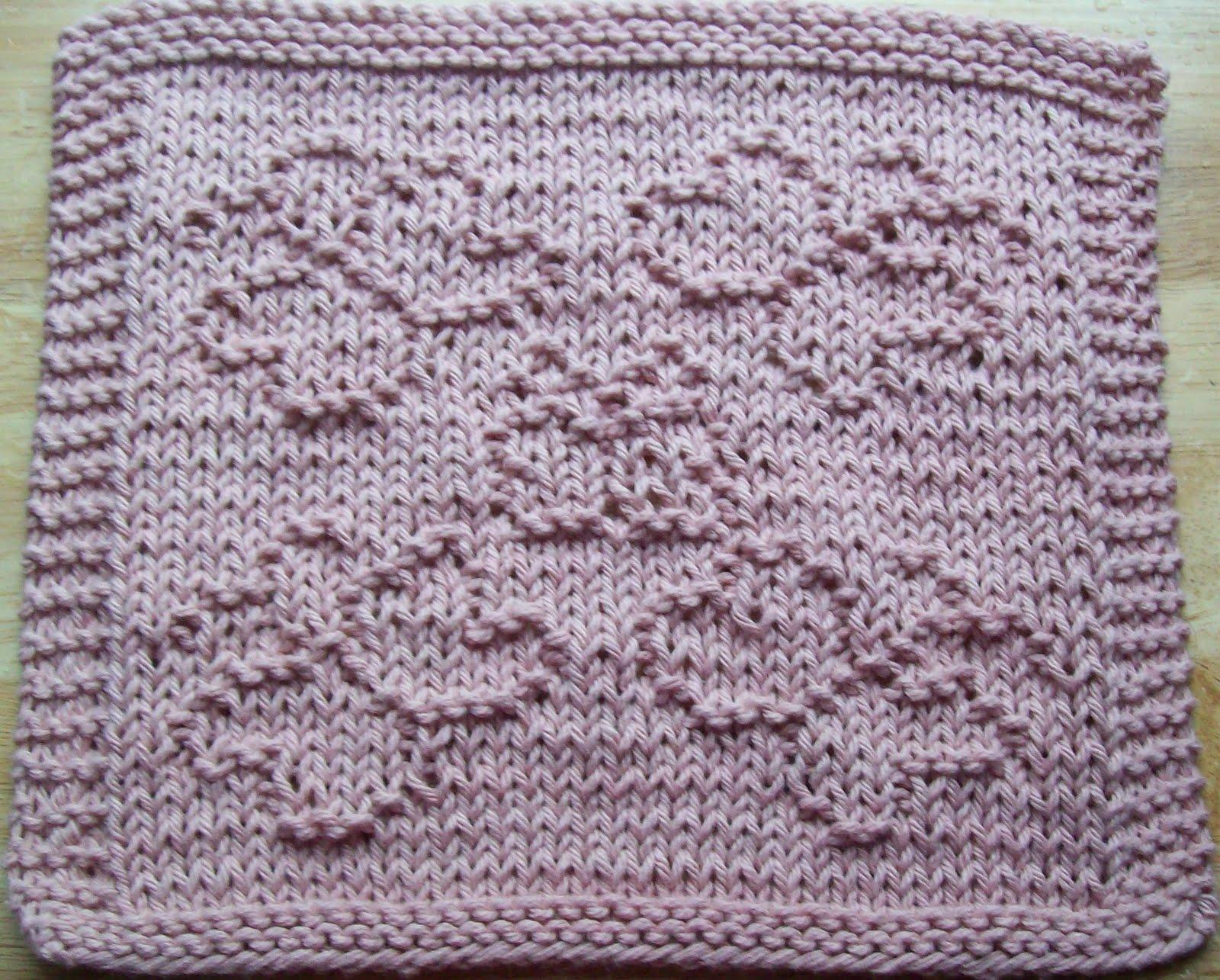 DigKnitty Designs: More Butterflies Knit Dishcloth Pattern
