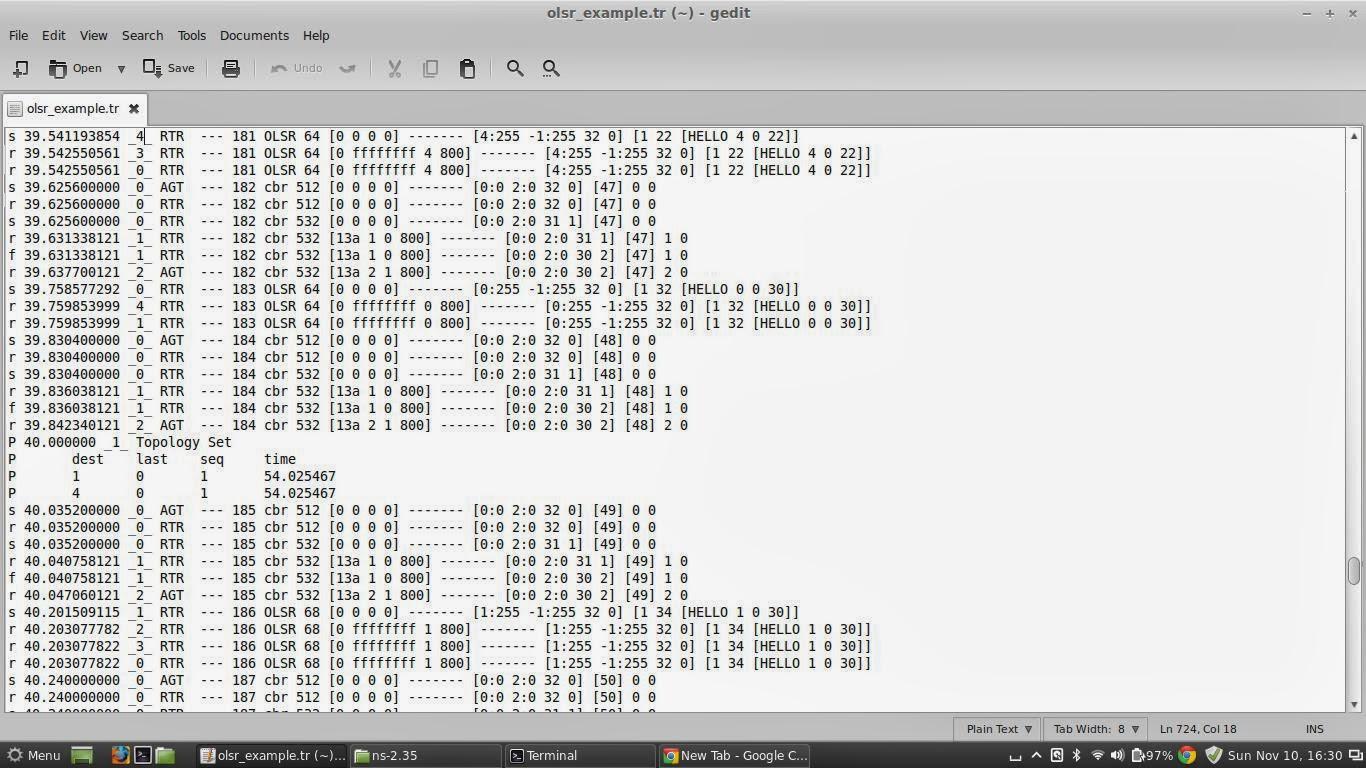 Network Simulators: OLSR protocol in NS-2 35 (ns2)