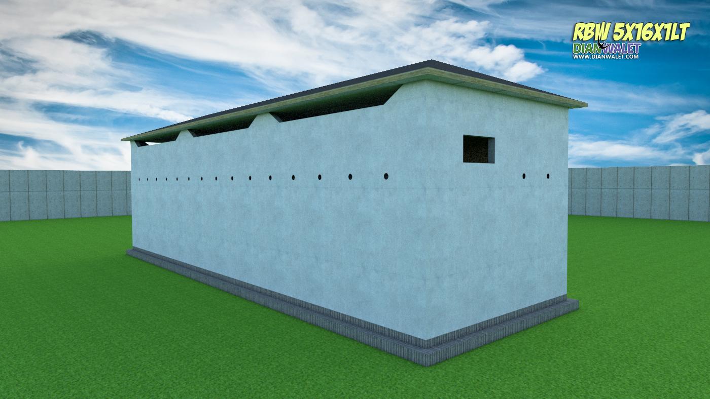 Desain Bangunan Walet 5x16 1 Lantai Premium  DIAN WALET