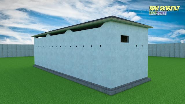 Desain Bangunan Walet 5x16 1 Lantai Premium