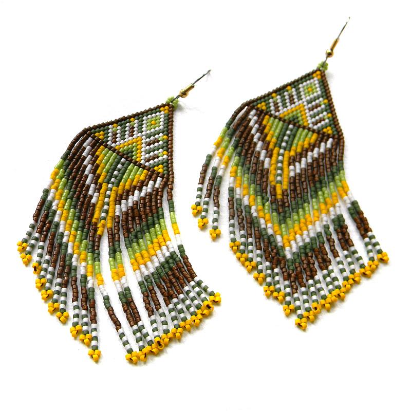 купить серьги из бисера украшения ручной работы от анабель