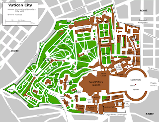 Large scale (close-up) map of Vatican City