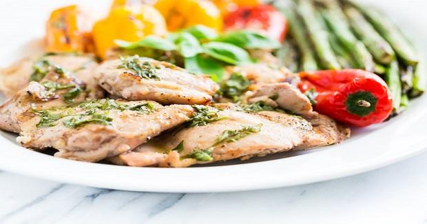 Lemon Basil Grilled Chicken And Veggie Platter Recipe