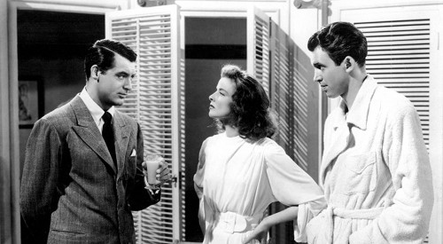 Photo of Cary Grant, Katharine Hepburn, and Jimmy Stewart in The Philadelphia Story