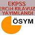 EKPSS Tercih Kılavuzu Yayımlandı