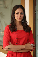 Actress Lavanya Tripathi Latest Pos in Red Dress at Radha Movie Success Meet .COM 0200.JPG