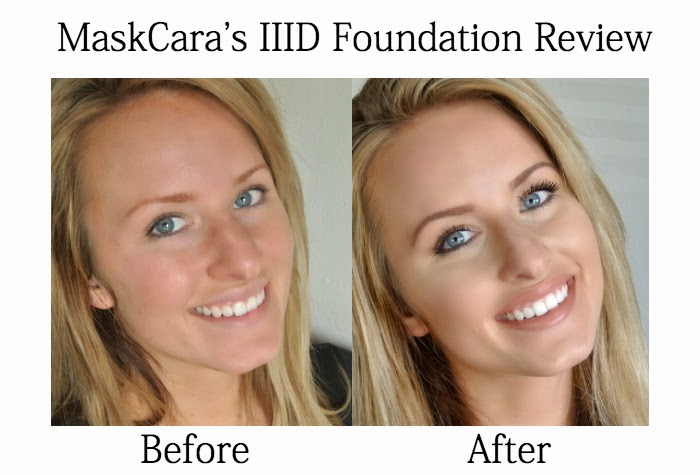 Review of MaskCara's IIID hac pack foundation in medium