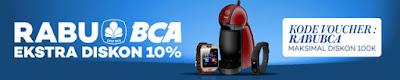Rabu BCA Extra Diskon 10% – Lazada