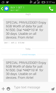 Airtel 6GB for N1500-Special privilage