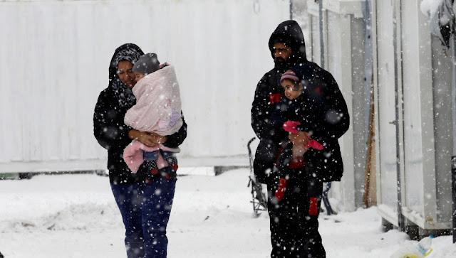 Ola de frío en Europa, envío de ayuda a refugiados