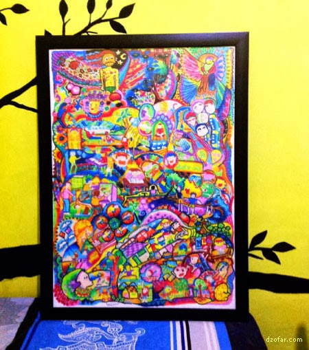 Lukisan Crayon