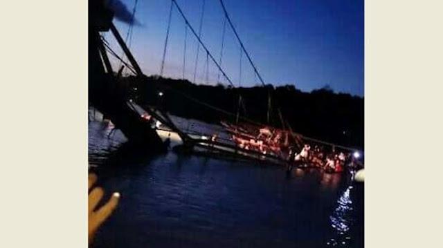 Pray For Bali, Tepat di Hari Raya Nyepi Segara Jembatan Penghubung Antar Pulau Ambruk 9 Orang Dilaporkan Tewas
