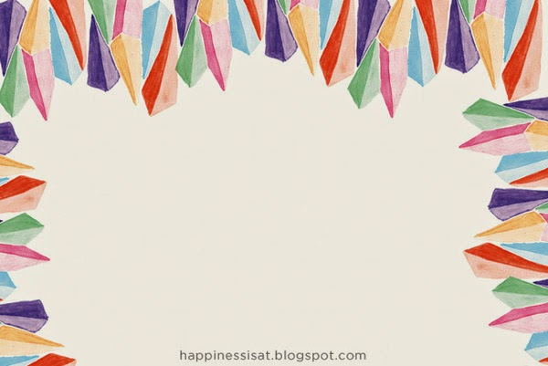 Stationery created by Happiness is - watercolour gems