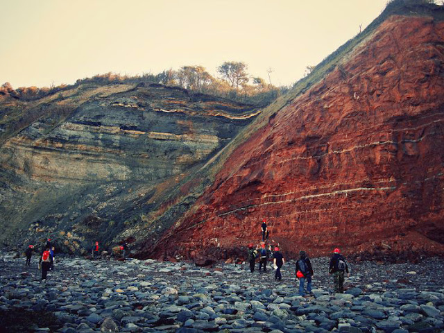 Amazing Geological Fault at Blue Anchor Bay