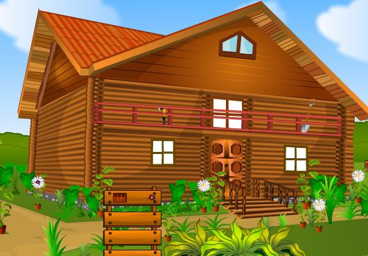 5ngames locked wooden house escape escape games daily for Minimalistic house escape 5 walkthrough