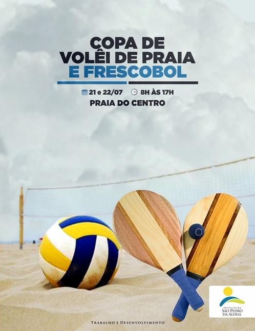 Copa de vôlei de praia e frescobol acontecem neste fim de semana em São Pedro da Aldeia