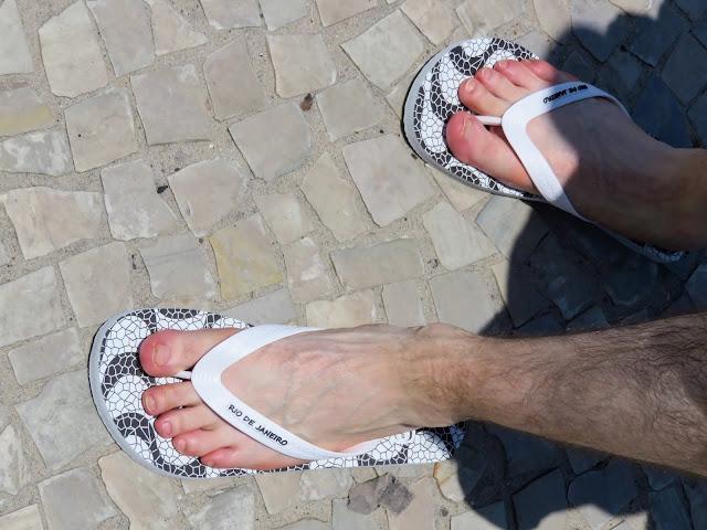 Brazilian Flip-flops bought on Ipanema Beach in Rio de Janeiro Brazil