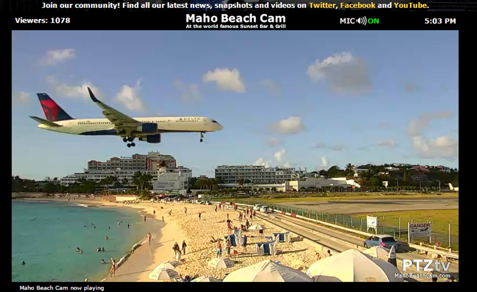 Live WebCam Now Available For Maho Beach Landings At Saint Maarten Airport  AVGEEKS AirSpotters