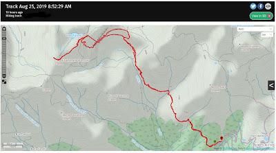 Saved GPS tracks from Cusio to Rifugio Benigni.