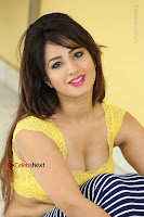 Cute Telugu Actress Shunaya Solanki High Definition Spicy Pos in Yellow Top and Skirt  0429.JPG
