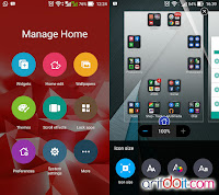 Pengaturan Zen Launcher dan scroll effect