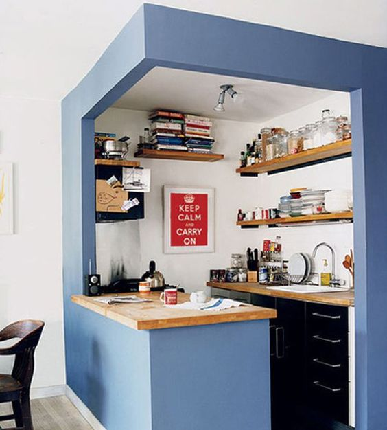 Selection of kitchen wares is very influential in Small Kitchen design.  Choose the kitchen wares.