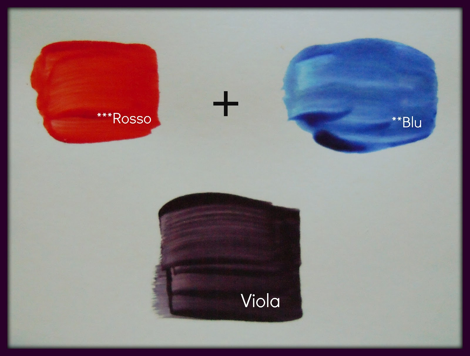 """Come Creare Il Viola arte per te"""": come miscelate i colori per farne altri!"""