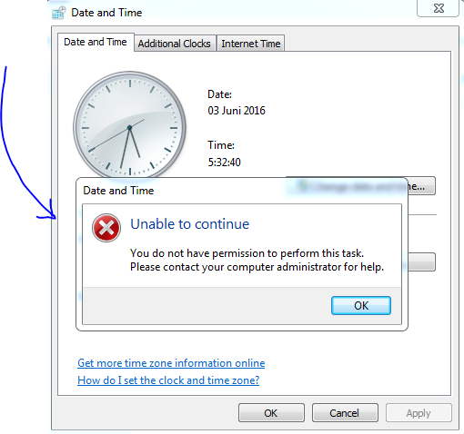 Kenapa dan bagaimana Cara Mengatur Jam / waktu dan Tanggal di PC Laptop notebook netbook yang tidak bisa di ubah