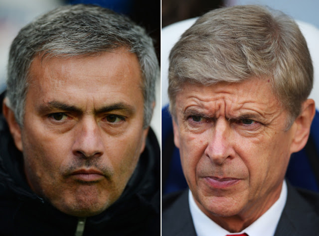 Arsene Wenger hoping Jose Mourinho struggles at Manchester United to hand Arsenal advantage in title race.