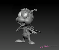 """Astro Fly"" - character design & 3D model ©Pierre Rouzier"