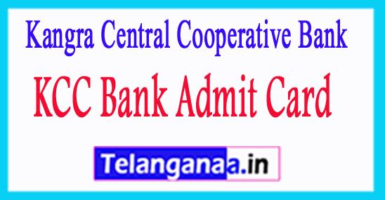 KCC Bank Admit Card 2018 Download