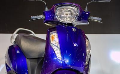 Suzuki Access 125 Blue Colour Image