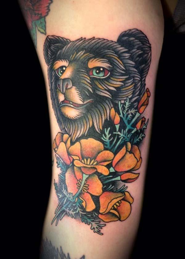 siyah ayı dövmesi