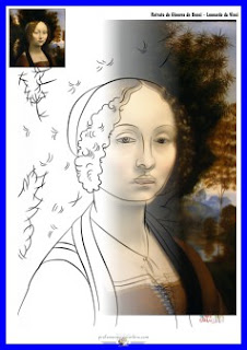 Retrato de Ginevra de Benci - Leonardo da Vinci - www.professorjunioronline.com