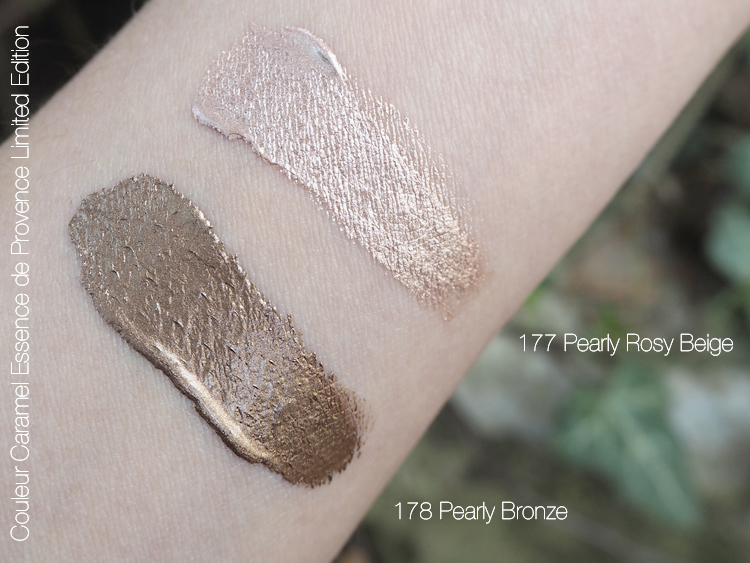Couleur Caramel Essence de Provence 177 Pearly Rosy Beige und 178 Pearly Bronze