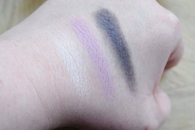 Paul & Joe Beauty Spring 2017 Eye Colour Trio in 12 Violet Candy Swatches