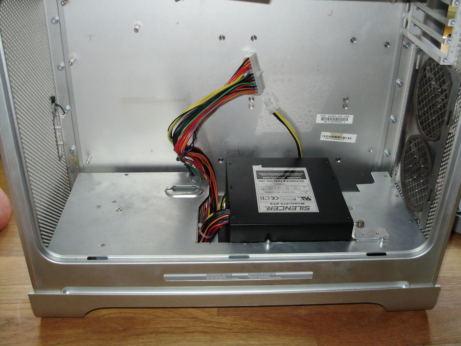 Cpu Fan Wiring Diagram Buildits How To Fit Your Pc In A Power Mac G5 Case