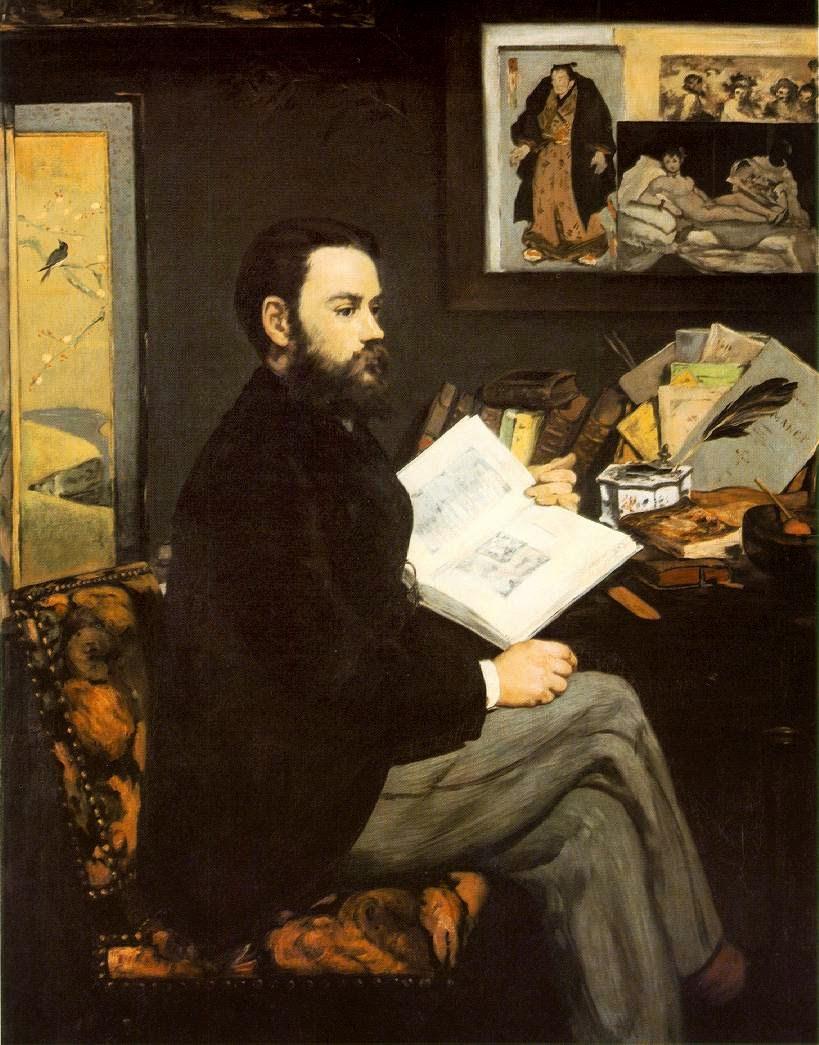 Retrato de Émile Zola - Pinturas impressionistas pintadas por Édouard Manet