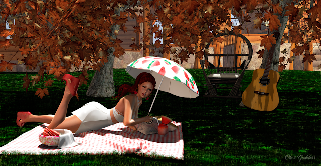 Second Life Fashion - YouGatcha Contest - Sweet watermelon - OhMyGoddess Blog