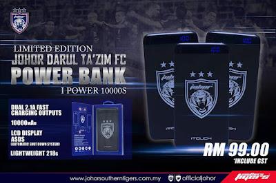 Harga Rasmi Powerbank JDT Hanya RM 99