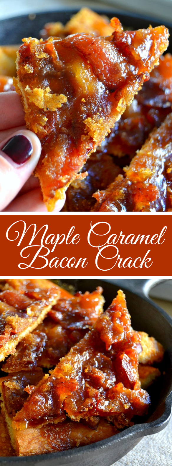 Maple Caramel Bacon Crack #breakfast #dessert