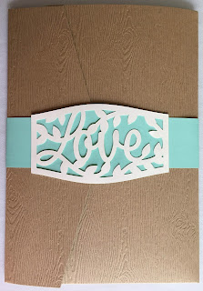 belly band for wedding invitation